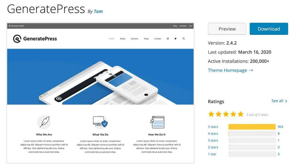 GeneratePress Review - Repository
