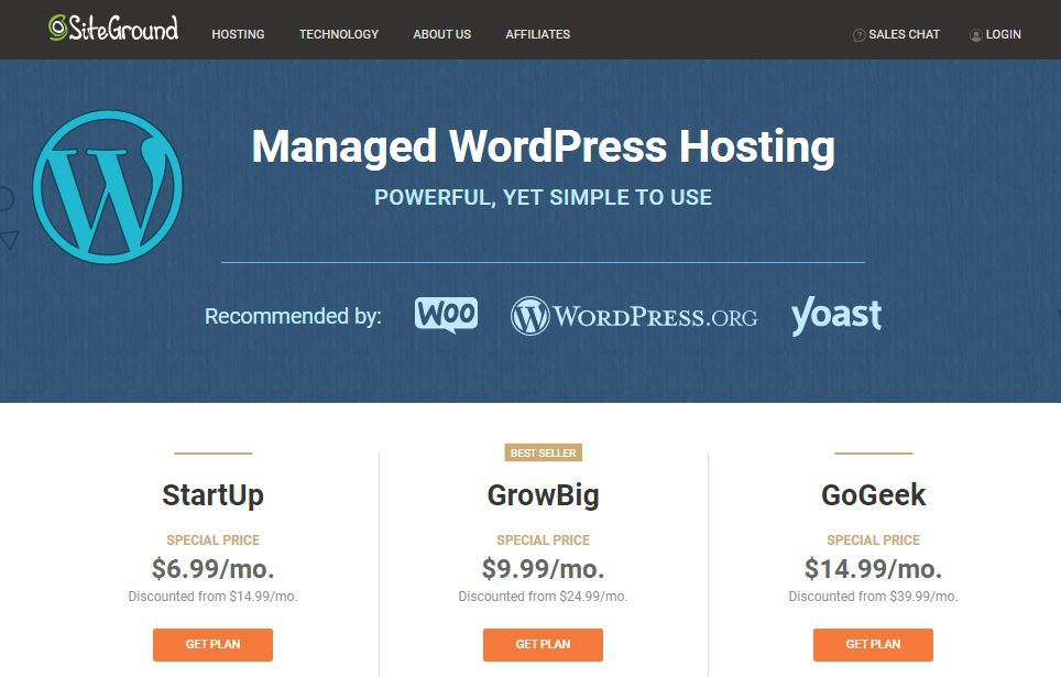 Siteground review WordPress Hosting