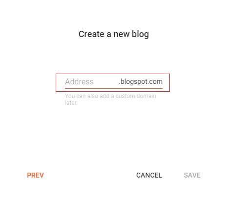 create blog url